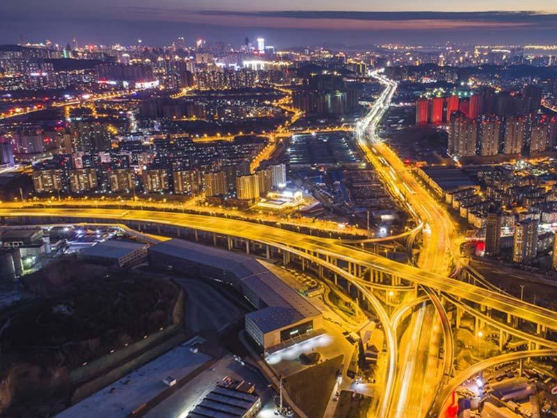 青岛重庆路立交桥使用建筑木模板