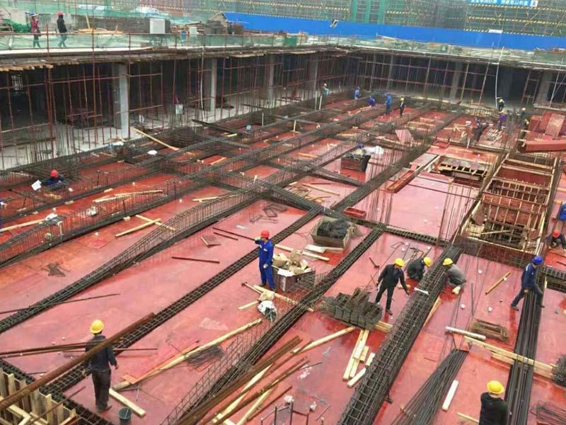 上海紫园一期建设中使用木模板案例